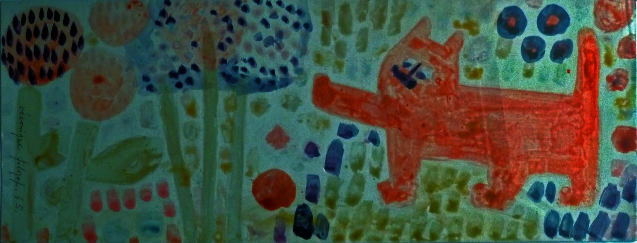 Le chat rouge, 1965, 18 x 47,5 cm, coll. privée